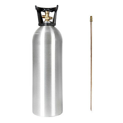 20 lb NEW Aluminum CO2 Tank WITH SIPHON TUBE CGA 320 Fresh Certification