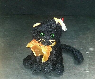 "TY Beanie Babies - MOONLIGHT the Black Cat  -  6"" Stuffed Animal Toy"
