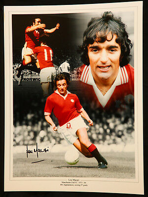 New Lou Macari Signed Manchester United 12x16 Photograph