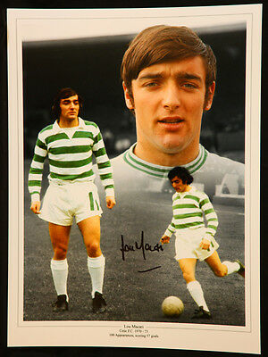 New Lou Macari Signed Celtic Fc 12x16 Photograph