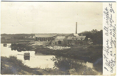 East Machias ME Lumber Company 1907 RPPC Real Photo Postcard