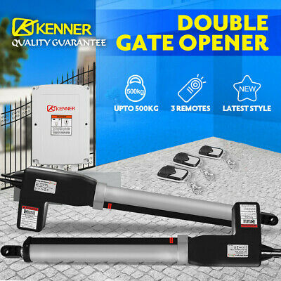 KENNER Swing Gate Opener Double Automatic Electric Kit Remote Control 1000KG