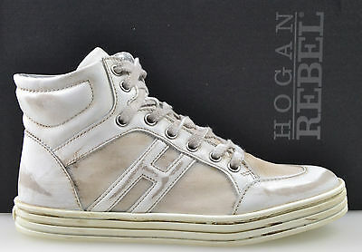 HOGAN REBEL SCARPA SNEAKER  ALTA DONNA-WOMAN HIGH SHOES 35-37 HXC141072831G1B001
