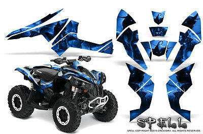 Can-Am Renegade Graphics Kit by CreatorX Decals Stickers SPELL BL