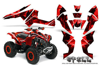 Can-Am Renegade Graphics Kit by CreatorX Decals Stickers SPELL R