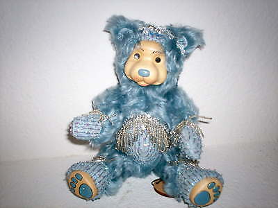 "Raikes 9"" Birthstone Bear Aquamarine-NEW & Signed"