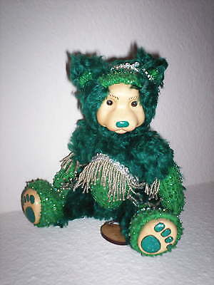 "Raikes 9"" Birthstone Bear Emerald-NEW & Signed"