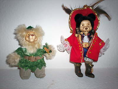 Raikes Peter Pan and Captain Hook Itty Bitty Bears - New/Signed