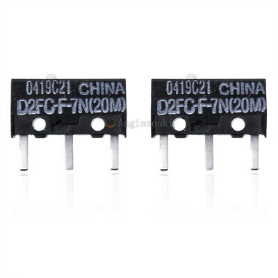 2X OMRON Micro Switch Microswitch D2FC-F-7N(20M) for APPLE RAZER Logitech Mouse