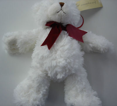 """First Impressions Teddy Bear """"Baby's First Christmas"""" white"""