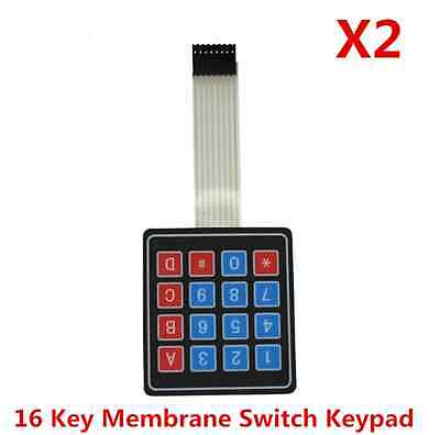2pcs 4 x 4 Matrix Array 16 Key Membrane Switch Keypad Keyboard for Arduino/AVR