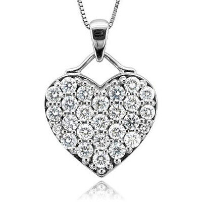 10k white gold heart diamond pendant necklace 100 carat 55999 10k white gold heart diamond pendant necklace 100 carat mozeypictures Gallery