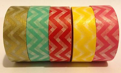 Washi Tape Wide Zigzag 15Mm X 10Mtr Scrap Planner Craft Wrap Mail Art