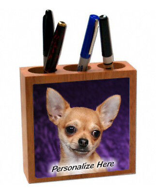 Chihuahua  tan color # 74   Personalized  Pencil and Pen Holder