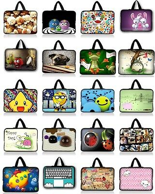 "Cute 10"" 10.1"" 10.2"" Inch Laptop Tablet Netbook Handle Sleeve Case Bag 21 Color"