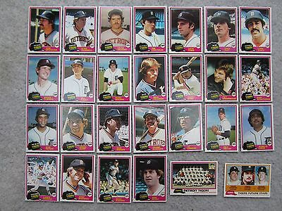 (Lot of 27)  1981 Topps  Detroit Tigers (all different)   NM+