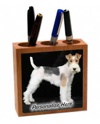 Wire  Fox  Terrier   # 4  Personalized  Pencil and Pen Holder