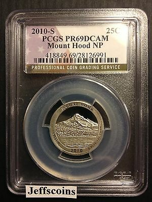 2010 S PCGS PF69 DCAM Clad Proof Mount Hood National Forest Park QUARTER  ATB