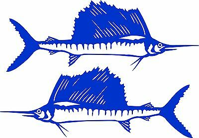 Sailfish Stickers x 2 x 300 x 185  Quality Stickers made for the outdoors