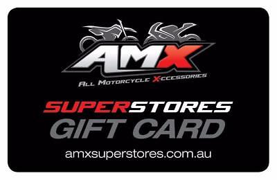 AMX Superstores outlets all motorcycle accessories Victoria GIFT VOUCHER $20