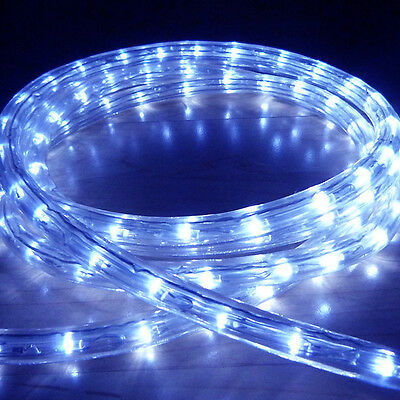 Blue Led Rope Light Outdoor Lights Chasing Static Christmas Xmas Gardens Homes