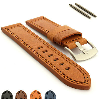 Men's Genuine Leather Watch Strap Band Waterproof CONSTANTINE Pan. Style