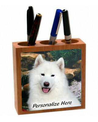 Samoyed   ( 3 )    Personalized  Pencil and Pen Holder