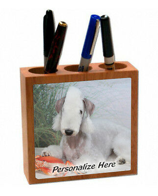 Bedlington Terrier   ( 3  )   Personalized  Pencil and Pen Holder