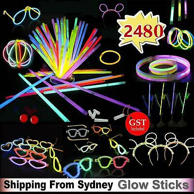 Glow sticks Jumbo set bundle pack bulk big huge family party Christmas Birthday