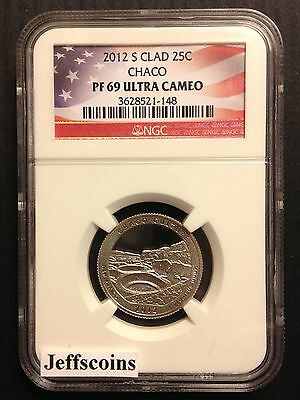 2012 S NGC PF69 Clad Proof CHACO CULTURE National Historic PARK QUARTER NM Cameo