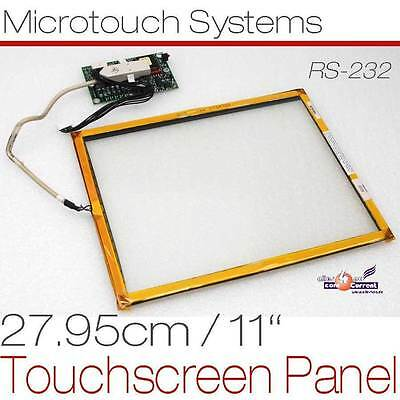 """27,95cm 11"""" TOUCHSCREEN PANEL FÜR TFT MONITORE RS-232 MICROTOUCH SYSTEMS D32"""