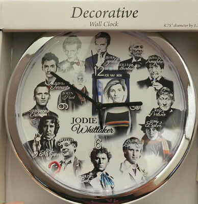 L@@K! Doctor Who Clock with all 12 Doctors  Matt Smith David Tennant Peter Capal