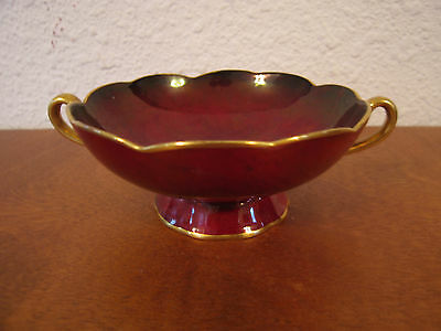 Vintage Antique Art Deco English Carlton Ware Rouge Royale Dish / Bowl