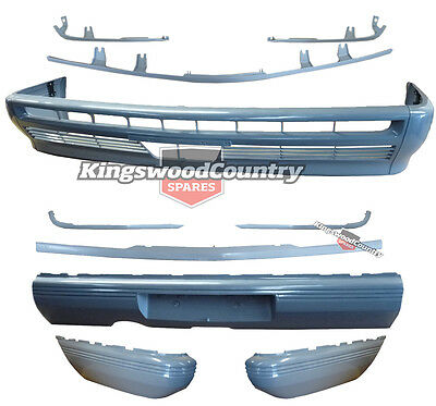 Holden VL Commodore Front Rear Bumper Bar + Mould 12pce kit