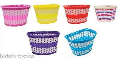 Bicycle Bike Kids Girls Boys Childrens Childs Front Basket Brand New All Colours