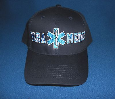 EMT / EMS Paramedic Cap Hat Low profile Star of Life Navy Blue