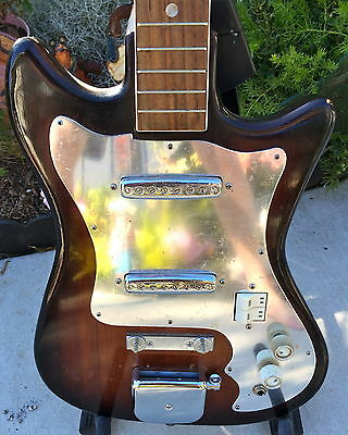 VINTAGE 60'S TEISCO/LINDELL DOUBLE PICKUP GUITAR
