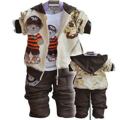 Baby/Toddler 3PC Outfit Sets Sport Style BEAR Fancy dress Size 1-3 years Old!
