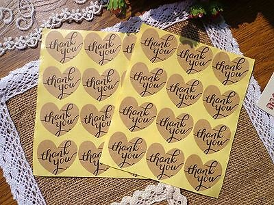 Thank You Heart Sticker / Gift Label Card-Making / Wrapping / Craft