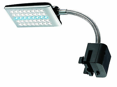Aquarium Fish Tank 40 LED Clip On Light Lamp Sump with 2 Modes and Flexible Arm