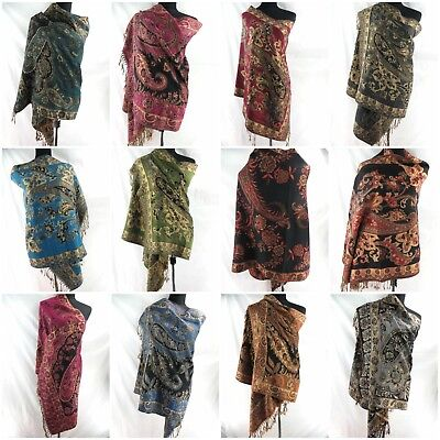 12 New fashion women viscose pashmina scarves shawl wrap stole wholesale lot