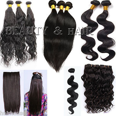 100 % Real Brazilian,Peruvian,Malaysian,Morrocon & Indian Virgin Remi Human Hair