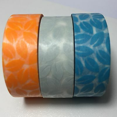 Washi Tape Leaves Choose Your Colour 15Mm X 10Mtr Scrap Plan Craft Wrap Mail Art