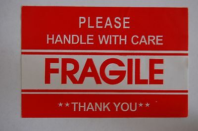 F1 2x3 Fragile Stickers Self Adhesive Fragile Labels Handle with Care Stickers