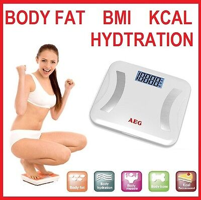 New 180KG Digital Electronic Body Fat Bathroom Weight Scales Muscle Water, BMI