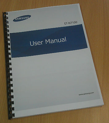 Printed Samsung Galaxy Note 2 Instruction Manual / User Guide GT-N7100