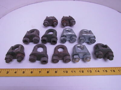 "3/4"" Galvanized Wire Rope U-Bolt Cable Clip Lot of 11pcs"