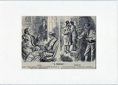 Antique matted print :james / master / punch magazine 1882 woodcut