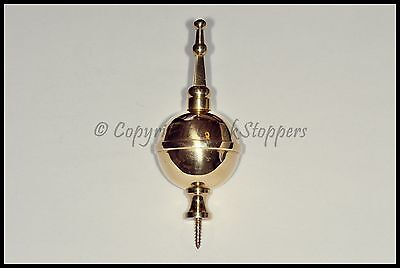 Quality Brass Ball & Spire Finial Clock Grandfather Longcase Ornament Decoration