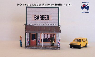 HO Scale Barber Shop Country Style Model Railway Building Kit - REBAS1